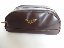 New RRL Ralph Lauren Dark Brown Leather A-2 Men's Travel Bag