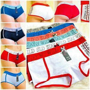 6-12 Boyshorts Sports SEXY 95% COTTON Panties Undies Active Wear Underwear S-5XL