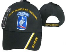 U.S. Army 173rd Airborne Sky Soldiers Black Shadow Embroidered Cap Hat