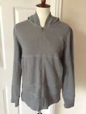NORMA KAMALI Gray Zip Up Hoodie Sweatshirt Size Large w/ Zip Hood