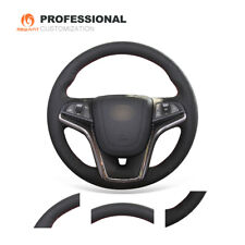 Black Genuine Leather Steering Wheel Cover for Chevrolet Malibu Volt 2011-2015