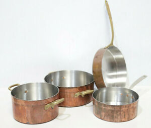 Christian WAGNER Copper Frying Saute Pan Collection Casserole Pots German 225