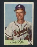 1954 Bowman #112 Andy Pafko EX/EX+ Braves 95678