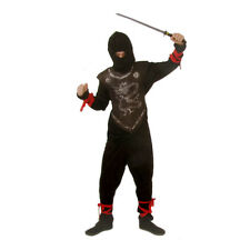 Kids Ninja Costume Fancy Dress Childrens Full Outfit 6 - 8 Yrs