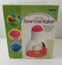 RIVAL SNOW CONE SHAVED ICE MAKER MACHINE 14 3/4'' TALL ELECTRIC 120V AC