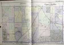 1916 Montgomery Co., North Pa, Upper Dublin, Fitzwatertown, Copy Plat Atlas Map