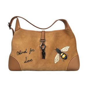 Customised Gucci Beige Suede Large Jackie O Shoulder Bag
