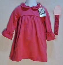Baby Girls 18 Months Dress Rose Headband Ruffle Jillianu0027s Closet NWT