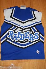 Raiders - Royal Blue, Black, & White Cdt Cheerleading Uniform Top 32""