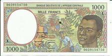 Central African States Gabon 1000 Francs 2000 Unc P 402 . 3Rw 29 Set
