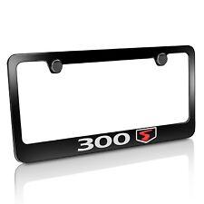 Chrysler 300S Black Metal License Plate Frame
