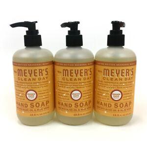 Mrs Meyer's Clean Day Liquid Hand Soap ORANGE CLOVE 12.5 fl oz 3 Pack NEW