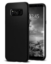 Coque Galaxy S8 Plus, Spigen® [Liquid Air] Premium Soft [Noir] Flexible Doux TPU
