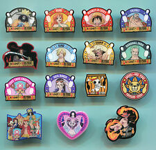 Lot of  15 pcs One Piece Japan Anime Pin Set - Round 1 Nami Franky Usopp etc
