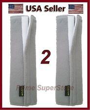 2 Premium Grey Fleece Seat Belt Comfort Pads Covers / Dress & Pad Your Shoulder