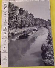 1956 LA SAMBRE EN AVAL DE MAUBEUGE ( NORD ) THE SAMBRE DOWNSTREAM FROM MAUBEUGE