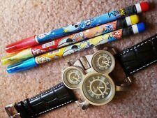 NEW RARE 3 MOVEMENT HIDDEN MICKEY MOUSE  WATCH + BONUSES