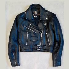 Vanguard Leather of America Motorcycle Biker Jacket Adult Small Medium