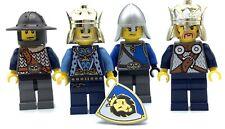 LEGO LOT OF 4 CASTLE MINIFIGURES LION KNIGHTS KINGDOMS FIGURE CROWN FIGS