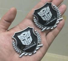 2x Metal Transformer Autobot Deception Trunk Emblems Decal Sticker Window Badge