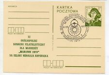 Polonia Espacio Personajes Copernico entero postal año 1973 (DQ-404)