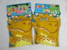 Dinosaur Glove A Bubbles Wave And Play Zing Toys  Lot of 2 Girls Boys Age 3+