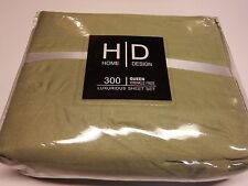 Hanna Davis Collection Affordable 4Pc Bed Sheet Set - Queen Size, LIGHT GREEN
