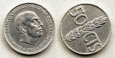 Variante-Estado Español 50 centimos 1966*19-68. EBC-/XF- Girada segun foto. Rara