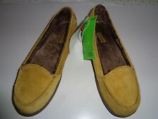 CROCS Melbourne II Olive Suede Faux Fur Insole Slip On Loafer Women 7~~NEW