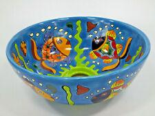 "10¾"" ROUND TALAVERA SINK, vessel mexican bathroom sink handmade folk art ceramic"