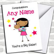 Asiatico sorella maggiore NUOVO bambino Congratulazioni bambina pari livello carta personalizzati