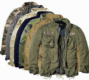 Brandit Herren Warme Winter Jacke Parka Army Feld M65  teddyfell GIANT Baumwolle