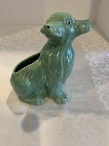 Vintage Weller Pottery Green 3 Faced Dog Planter