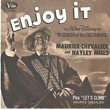 MAURICE CHEVALIER/HAYLEY MILLS--PICTURE SLEEVE ONLY---(ENJOY IT)--PS--PIC--SLV