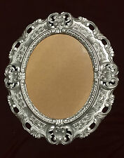 Marco Barroco plata ovalado 45x37 Marco De Foto antiguo marco con vidrio