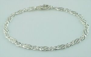 925 Sterling Silver Flat Celtic Style Bracelet 7 inches