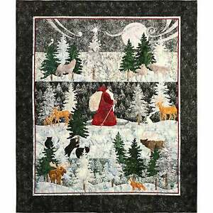 "McKenna Ryan ""Said The Night Wind"" Christmas Quilt Kit Hoffman Fabrics"