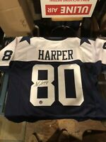 Alvin Harper Cowboys Signed Autographed Custom Jersey Pro player Hologram