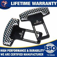2Pcs Universal Safety Car Seat Belt Buckle Alarm Stopper Clip Clamp Carbon Fiber