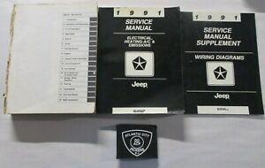 1991 JEEP SERVICE SHOP REPAIR MANUAL & WIRING DIAGRAMS SET