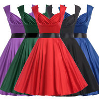 VINTAGE 1950'S STYLE PINUP SWING ROCK EVENING PARTY DRESS PLUS SIZE++