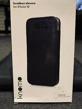 Knomo Leather Sleeve for IPhone 4S - Case, Pouch - Brand NEW In Box BNIB
