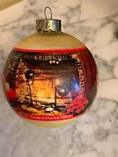 Hallmark Christmas at Home Glass Ornament 1980