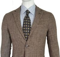 Eleventy Tan Wool Linen Cotton Blend Sports Coat Unstructured 38R US NWT $1495