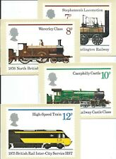 GB - PHQ CARDS -1975 - RAILWAYS  - BACK - SHS - COMP  SET USED - pmk York Museum
