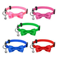 Small Dog Puppy Kitten Cat Bow Breakaway Collar Safety Quick Release with Bell