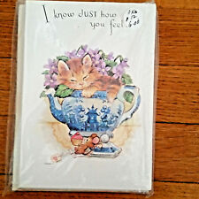 1 PACKAGE OF 12 GREETING CARDS~GET WELL~VIOLETS~NEW~BEST SELLER