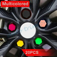 19mm Silicone Hexagonal Protector Wheel Lug Bolt Nut Cap Valve Stem Cover Trim