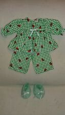 """Beautiful 3 piece flannel Pj set to fit 16"""" Cabbage Patch Kids"""