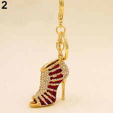 KEY RING/ HANDBAG CHAIN GOLD PLATED RED HIGH HEEL SHOE WITH CRYSTALS..LAST ONE !